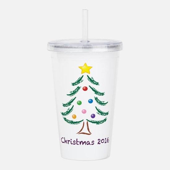 Holiday Christmas Tree Acrylic Double-wall Tumbler