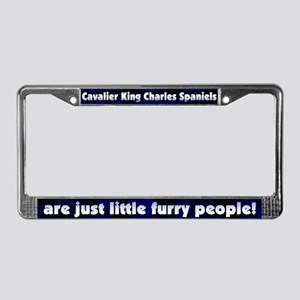 Furry People Cavalier License Plate Frame