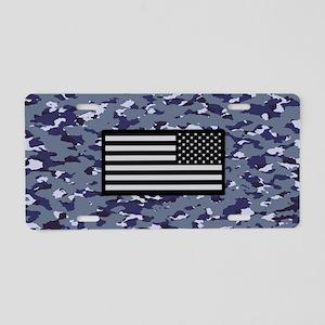Camouflage: Naval & U.S. Fl Aluminum License Plate