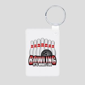 Bowling it's what I do Aluminum Photo Keychain
