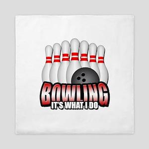 Bowling it's what I do Queen Duvet