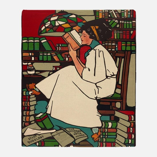 Funny Library Throw Blanket
