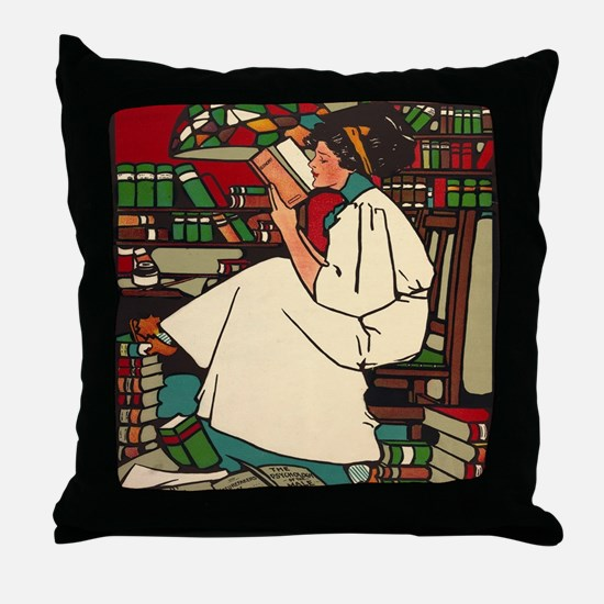 Unique Libraries Throw Pillow