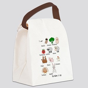 Beans, Greens, Potatoes, Tomatoes Canvas Lunch Bag