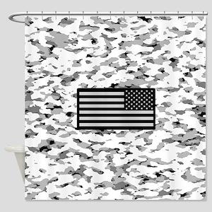 Camouflage: Alpine VI (U.S. Flag) Shower Curtain