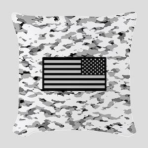 Camouflage: Alpine VI (U.S. Fl Woven Throw Pillow