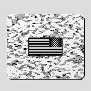 Camouflage: Alpine VI (U.S. Flag) Mousepad