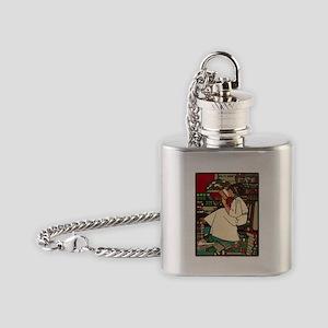 Vintage poster - Dig Flask Necklace