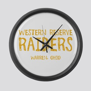 Western Reserve Raiders Large Wall Clock