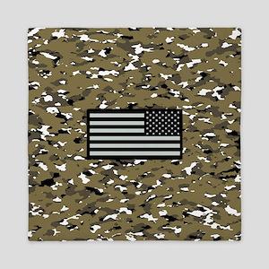 Camouflage: Arid Desert VII (U.S. Flag Queen Duvet