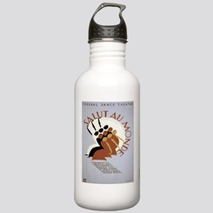 Vintage poster - Salut Stainless Water Bottle 1.0L