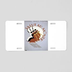 Vintage poster - Salut Au M Aluminum License Plate