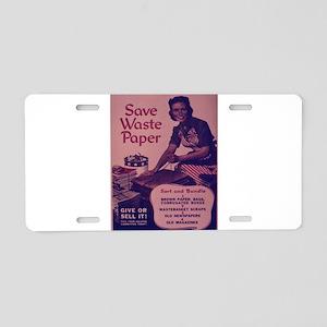 Vintage poster - Save Waste Aluminum License Plate