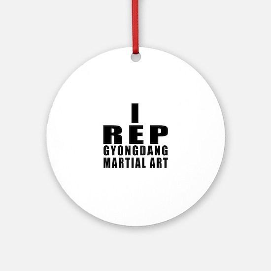 I Rep Gyongdang Martial Arts Round Ornament