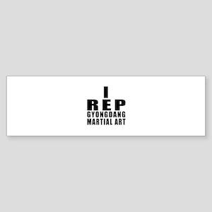 I Rep Gyongdang Martial Arts Sticker (Bumper)