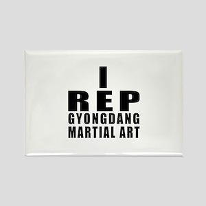 I Rep Gyongdang Martial Arts Rectangle Magnet