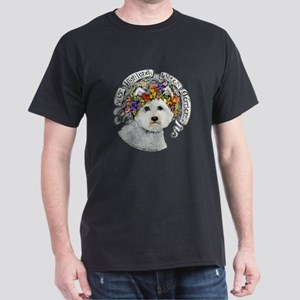 Westie Flower Garland T-Shirt
