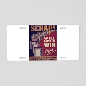 Vintage poster - Scrap meta Aluminum License Plate