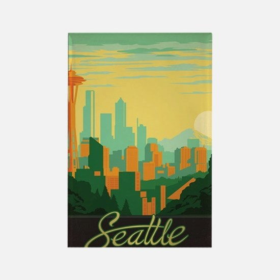 Cute Seattle Rectangle Magnet