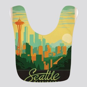 Vintage poster - Seattle Polyester Baby Bib
