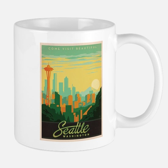 Vintage poster - Seattle Mugs