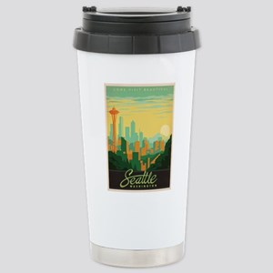 Vintage poster - Seattl Stainless Steel Travel Mug