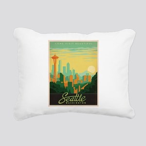 Vintage poster - Seattle Rectangular Canvas Pillow