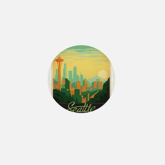 Vintage poster - Seattle Mini Button