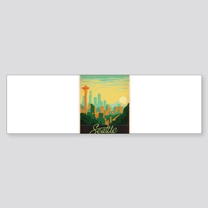 Vintage poster - Seattle Bumper Sticker