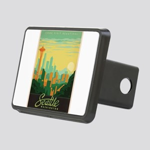 Vintage poster - Seattle Rectangular Hitch Cover