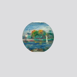 The Blue River by Auguste Renoir Mini Button