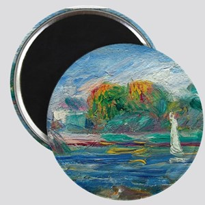 The Blue River by Auguste Renoir Magnets