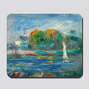 The Blue River by Auguste Renoir Mousepad