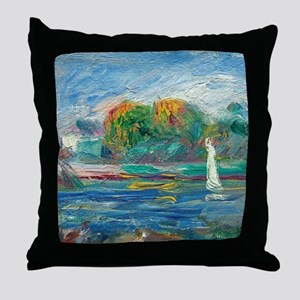The Blue River by Auguste Renoir Throw Pillow