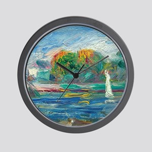 The Blue River by Auguste Renoir Wall Clock