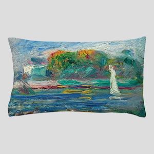 The Blue River by Auguste Renoir Pillow Case