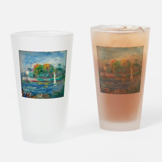 The Blue River by Auguste Renoir Drinking Glass