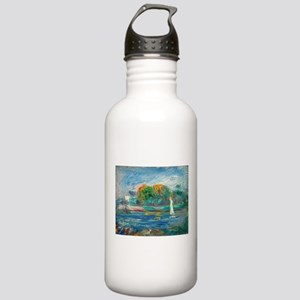 The Blue River by Auguste Renoir Water Bottle