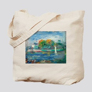 The Blue River by Auguste Renoir Tote Bag