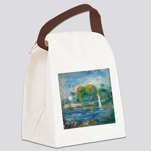 The Blue River by Auguste Renoir Canvas Lunch Bag