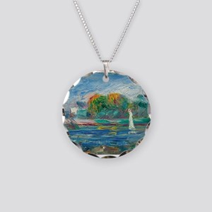The Blue River by Auguste Renoir Necklace