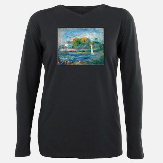 The Blue River by Auguste Renoir T-Shirt