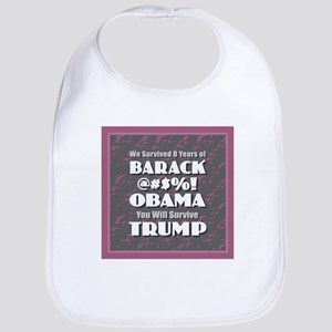 Survived Obama - Trump Baby Bib