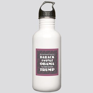 Survived Obama - Trump Stainless Water Bottle 1.0L