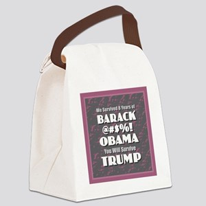 Survived Obama - Trump Canvas Lunch Bag