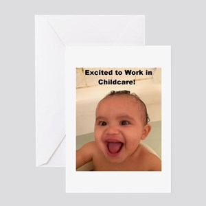 Excited to Work in Childcare! Greeting Card