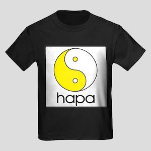Hapa Yin-Yang (Large Logo) Ash Grey T-Shirt