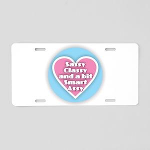 Sassy Classy Smart Assy Aluminum License Plate