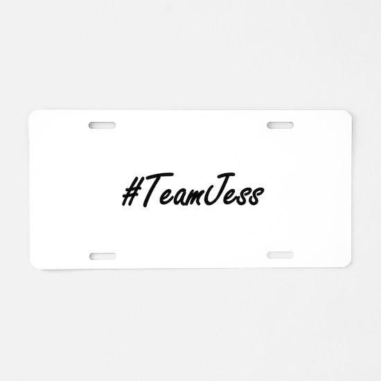 Team Jess Aluminum License Plate