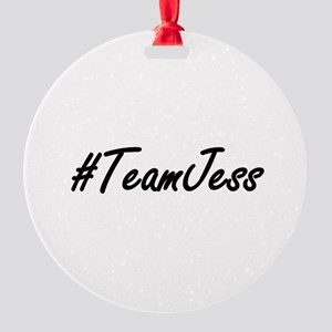 Team Jess Round Ornament